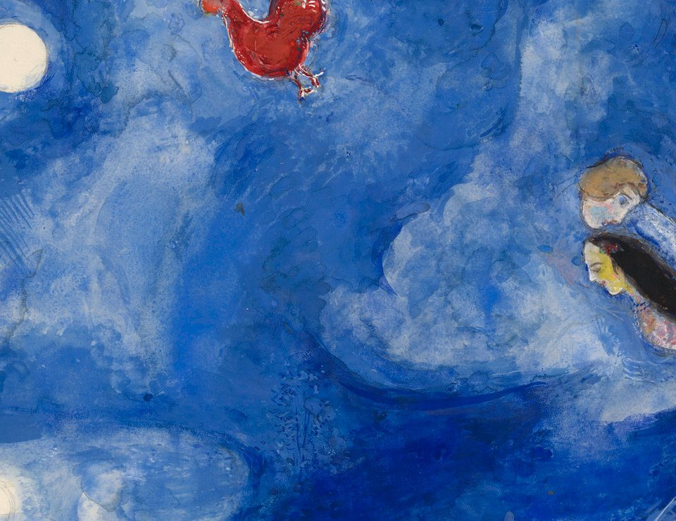 Marc Chagall, Aleko and Zemphira by Moonlight